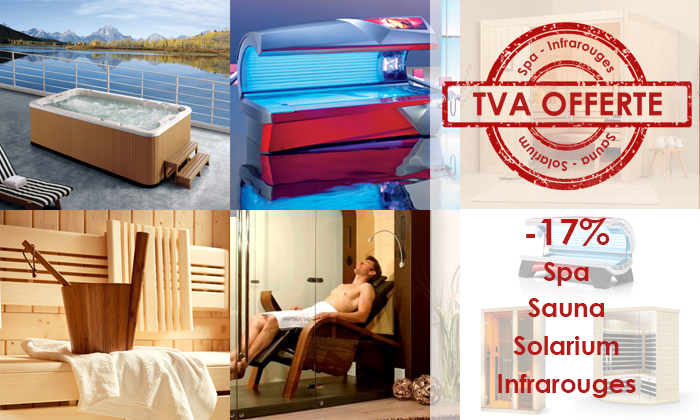 Promotion SPA Sauna Solarium Infrarouges Luxembourg