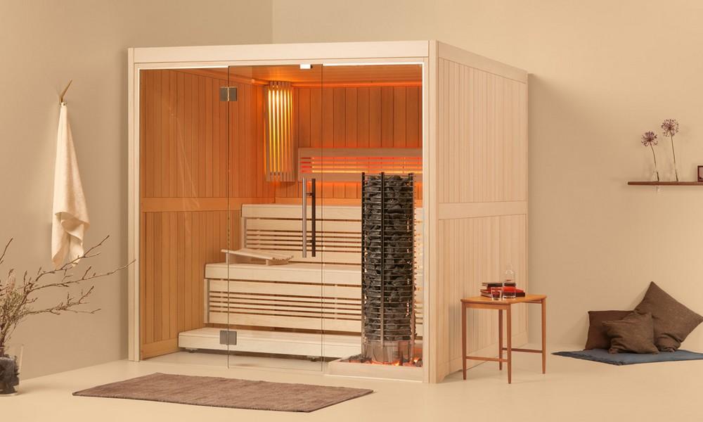 Sauna bois massif intérieur Luxembourg