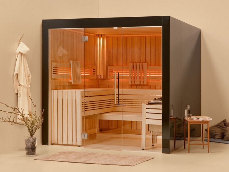 le sauna traditionnel la relaxation permanante chez soi. Black Bedroom Furniture Sets. Home Design Ideas
